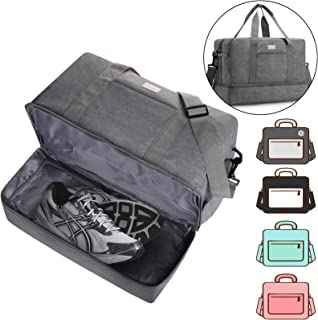 Gym Bag Shoes Compartment Shoulder Bag Travel Duffel Bag Swim Bag for Women and Men