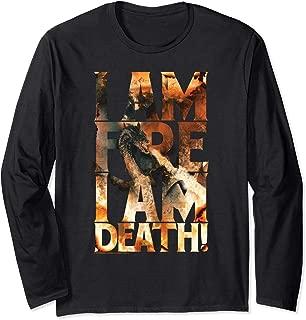 Hobbit Smaug I Am Fire Longsleeve T Shirt