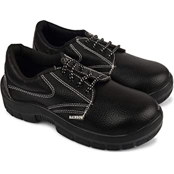Aktion Safety Synthetic Leather Shoes RA-701 - Size 9, Black