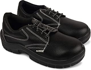 Aktion Safety Synthetic Leather Shoes RA-701 - Size 7, Black