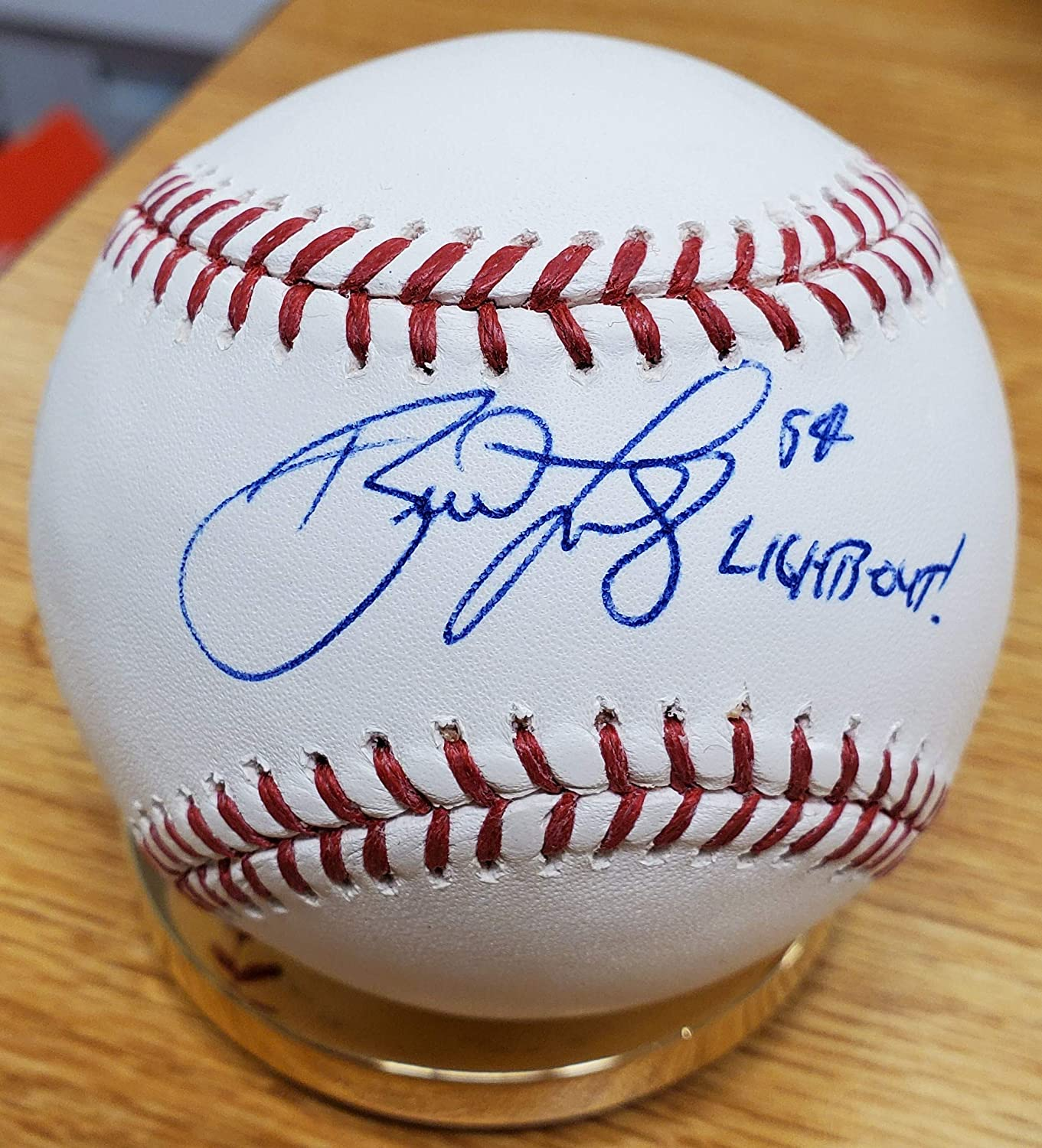 Autographed High material Brad Lidge Official Major with COA price League Baseball