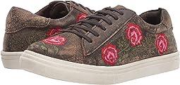 Brown Sanded Leather/Rose Embroidered Upper