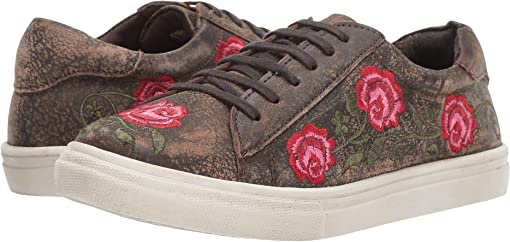 Brown Sanded Leather/Rose Embroidered Upper