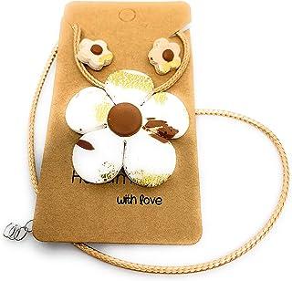 Handmade Flower Necklace Set