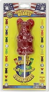 Giant Gummy Bear On A Stick Cherry 8.5 oz.