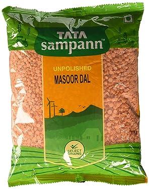 Tata Sampann Unpolished Masoor Dal , 1kg