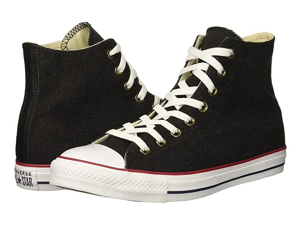 Converse Chuck Taylor All Star Worn In Denim Hi (Black/White/Brown) Shoes