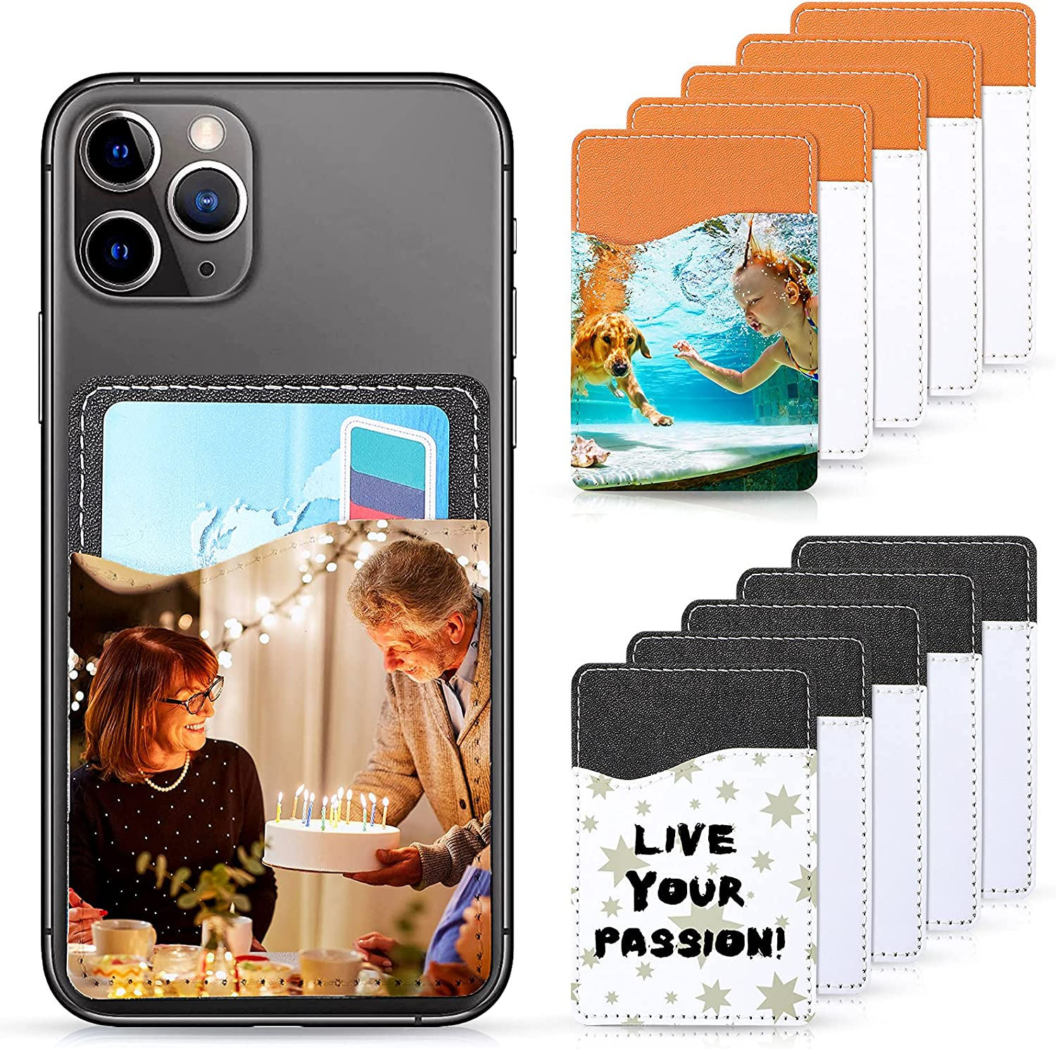 10 Special Campaign Pieces Sublimation Blanks Phone Cell Now on sale Wallet Leather PU