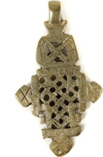 Ethiopian Coptic Cross Silver Pendant African