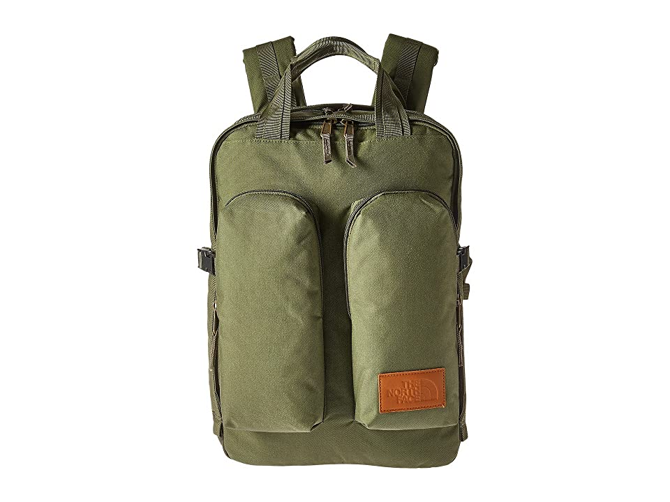 The North Face Mini Crevasse (Four Leaf Clover Heather/Weimaraner Brown Heather) Backpack Bags