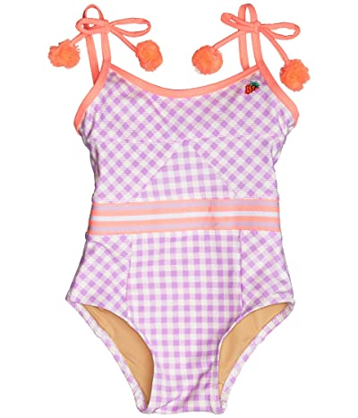 shade critters Cutout Back One-Piece in Gingham (Infant/Toddler) (Purple) Girl