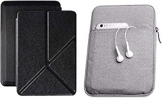 Capa Kindle Paperwhite 10ª geração à prova d'água Preta Origami - Função Liga/Desliga - Fechamento magnético + Bolsa Sleev...