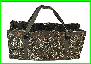 Crash Harbor Outdoors Duck Decoy Bag 12 Slot w/Large Front Pocket, Adjustable Shoulder Strap, Padded, Floating, Excellent Protection for Your Decoys