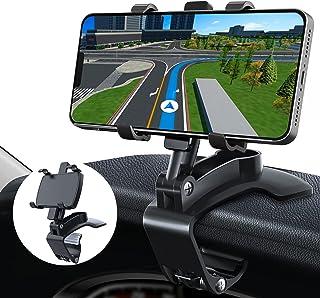 پایه نگهدارنده تلفن خودرو ، پایه نگهدارنده تلفن برای داشبورد اتومبیل [چرخش 360 درجه 270 درجه] برای گوشی های هوشمند 4 تا 7 اینچی ، سازگار با iPhone 12 11 Pro Max Xs Max XR X SE 8 Plus Galaxy S20 S8 S9 (سیاه)