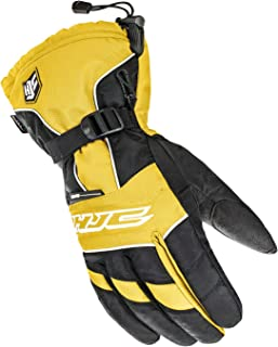 HJC Helmets Mens Cold Weather Gloves (Black/Yellow, Small)