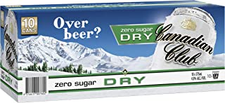 Canadian Club Whisky & Zero Sugar Dry Cans 375ml (Pack Of 10)