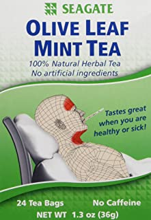 Seagate Products Olive Leaf Herbal Mint Tea 24 Count (Pack of 1)