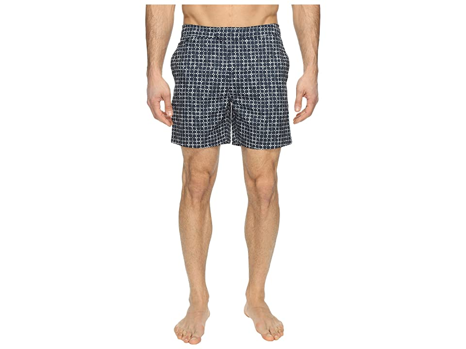 Original Penguin Floral Grid Fixed Volley (Dark Sapphire) Men
