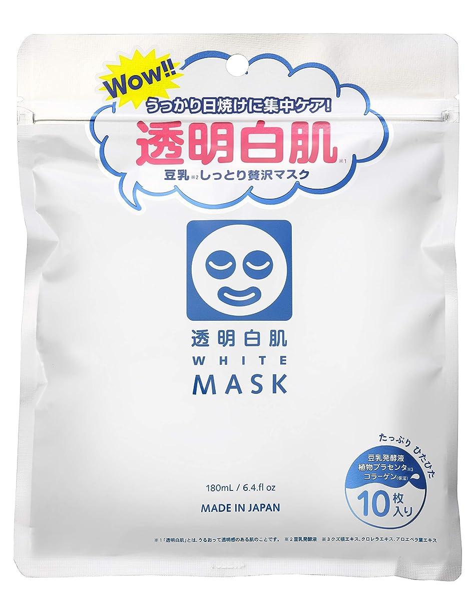 渇き経度信頼性透明白肌 ホワイトマスクN