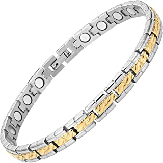 Womens Titanium Magnetic Therapy Bracelet for Arthritis Pain Relief Size Adjusting Tool and Gift Box Included By Willis Judd