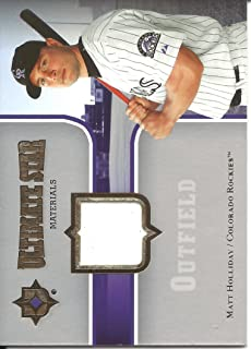 Matt Holliday 2007 Ultimate Collection Ultimate Star Materials Jersey Card Colorado Rockies