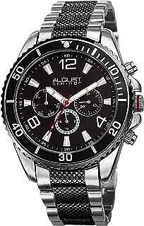 August Steiner Men's Mercury Swiss Quartz Multifunction Bracelet Watch