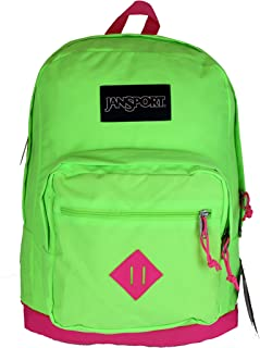 City Scout Laptop Backpack Fluorescent Green Pink