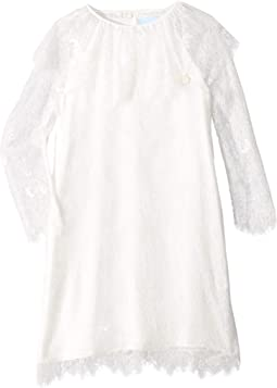 Long Sleeve Lace Dress (Little Kids/Big Kids)