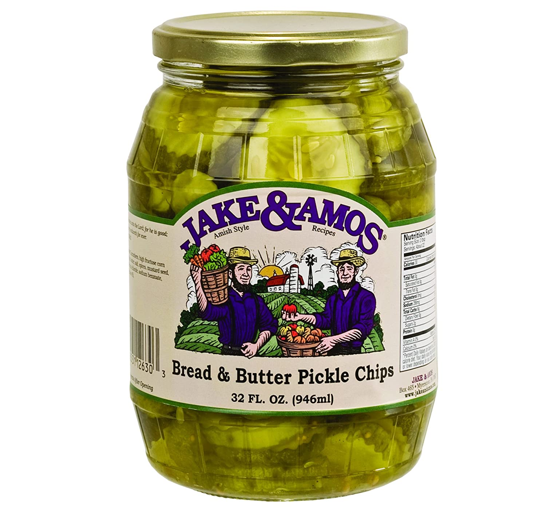 Jake Amos 4 years warranty Bread Butter Pickle Jars 32 Chips 2 Oz. Los Angeles Mall