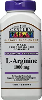 21st Century L-Arginine 1000 Mg Tablets, 100-Count (Pack of 3)