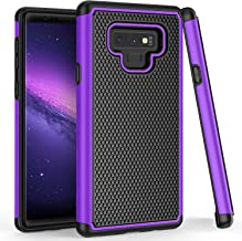 TILL for Galaxy Note 9 Case, TILL(TM) [Purple] [Shock Absorption] 2 in 1 Dual Layer Hybrid Armor Defender Rubber & Plastic Protective Grip Cute Case Cover Shell for Samsung Galaxy Note 9 All Carriers