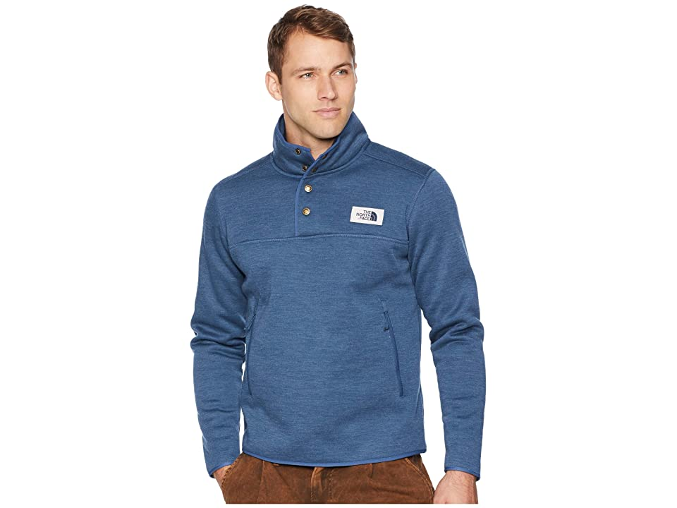 The North Face Sherpa Patrol 1/4 Snap Pullover (Shady Blue Heather) Men