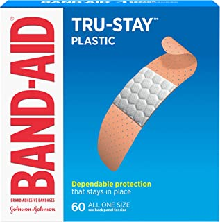Band-Aid - Adhesive Bandages, Plastic, All One Size, 3/4quot, 60/BX, Sold as 1 Box, JOJ 5635