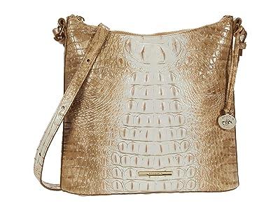 Brahmin Ombre Melbourne Katie Crossbody (Praline) Handbags