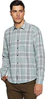 Linen Club - Cavallo Men's Checkered Slim Fit Casual Shirt