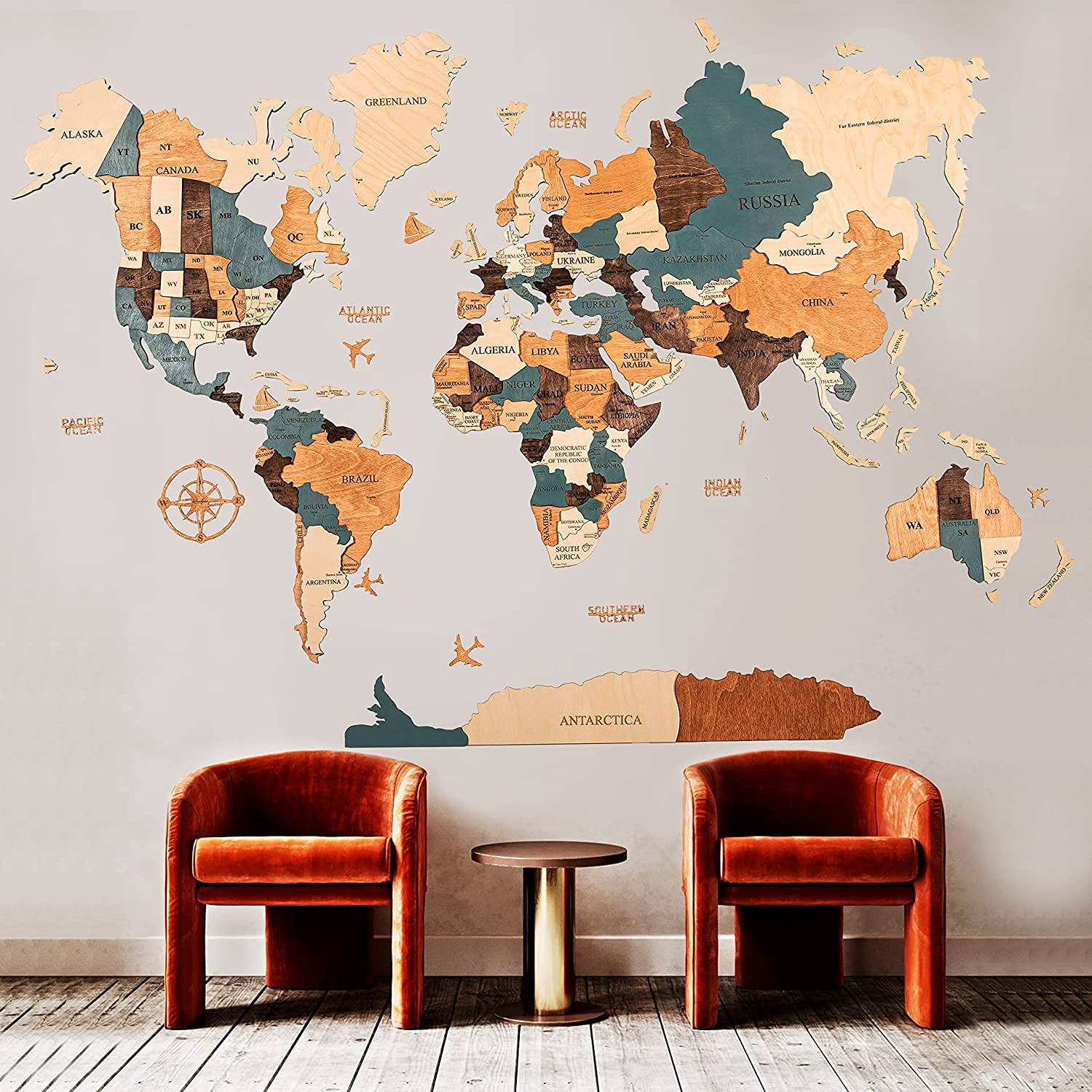 Some Popular product reservation World Map Wall Art Home Decor t Pin Push Wood of