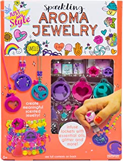 Just My Style Make Your Own Sparkling Aroma Jewelry by Horizon Group USA, Create DIY Scented Aromatherapy Pendants & Bracelets Using Essential Oils, Lavender, Rose & Peppermint, Multicolored