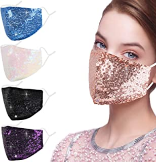 Alldriey Fashion Face Mask with Adjustable Ear Loops, Washable Fabric Cute Design