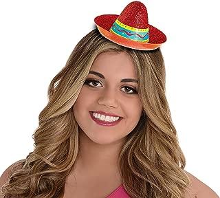 Cinco De Mayo Sombrero Mini Red Glitter Hat | Fiesta Accessory