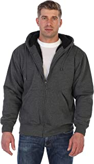 Gioberti Men Heavyweight Sherpa Lined Fleece Hoodie Jacket