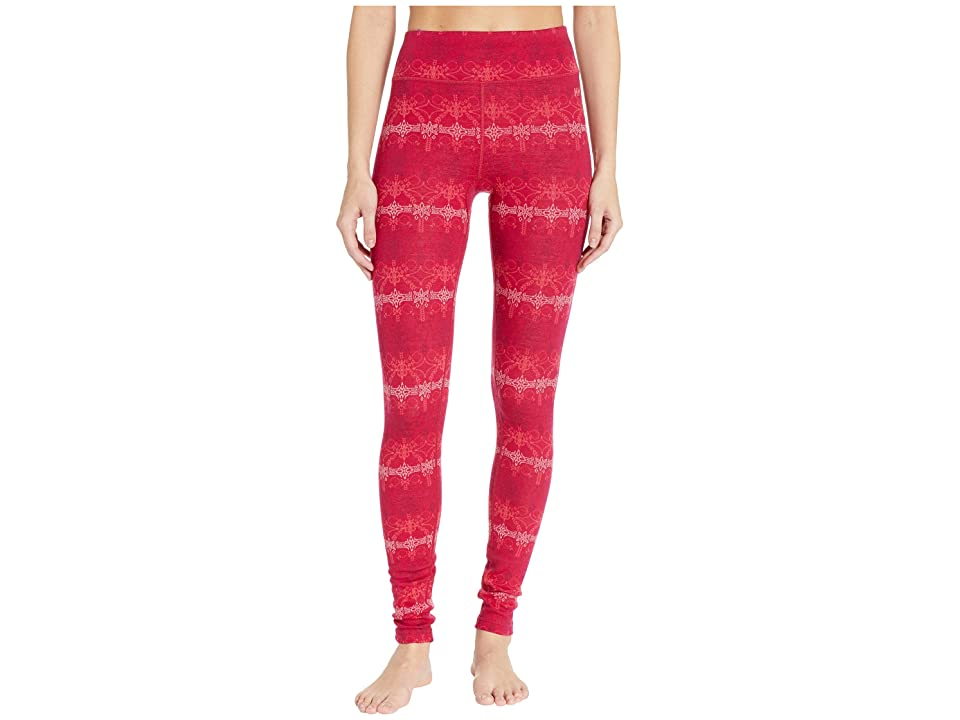 Helly Hansen Merino Mid Graphic Pants (Persian Red/Frost) Women
