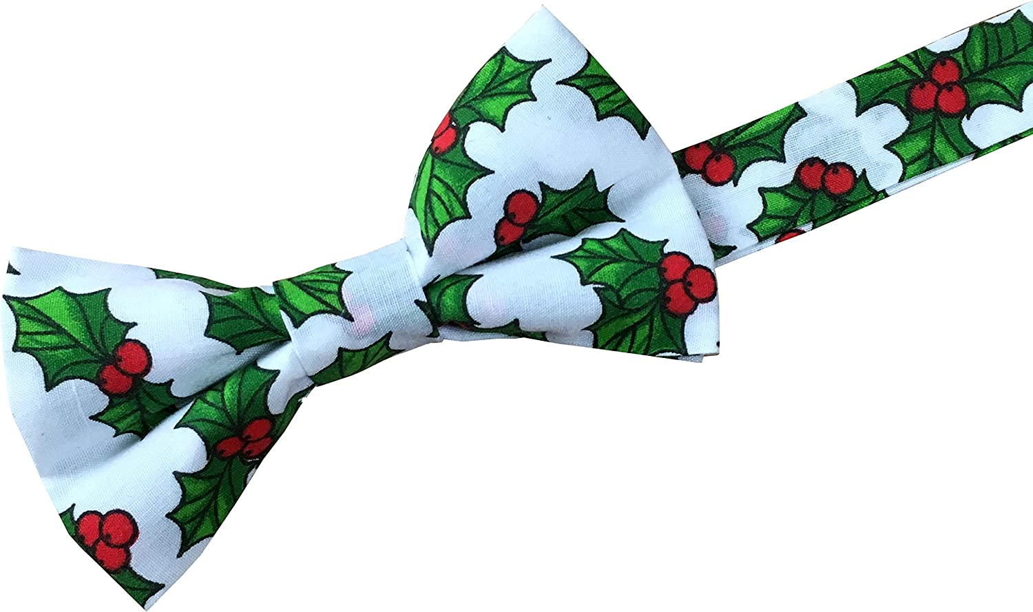 Chistmas Holly Cotton Bow Ties
