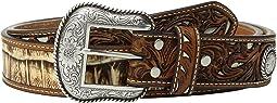 Croc Pierced Overlay Belt