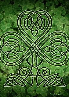 Toland Home Garden 1112459 Celtic Shamrock 12.5 x 18 Inch Decorative, Garden Flag (12.5