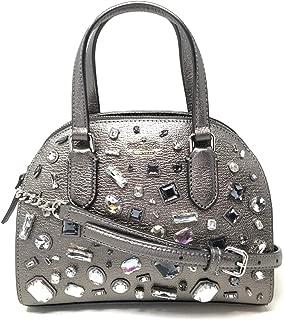 Kate Spade Laurel Way Embellished Mini Reiley Gunmetal Glitter Crossbody Bag