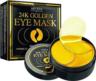 Under Eye Collagen Patches - 24K Gold Eye Mask Anti-Aging Hyaluronic Acid - Under Eye Mask for Reducing Dark Circles & Puf...