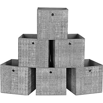 Songmics Aufbewahrungsboxen 6er Set Faltbare Stoffboxen Vliesstoff Wurfel Aufbewahrungskorbe Organizer Fur Spielzeug Kleidung Grau Meliert Rfb02lg 3 Amazon De Kuche Haushalt