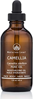 Organic Camellia Seed Oil/Tea Seed Oil / 100% Pure/Fresh Cold Pressed/Beautifies Hair, Skin And Nails/Non-Comedogenic/Hypoallergenic / 4 fl oz/by Natures Leaf