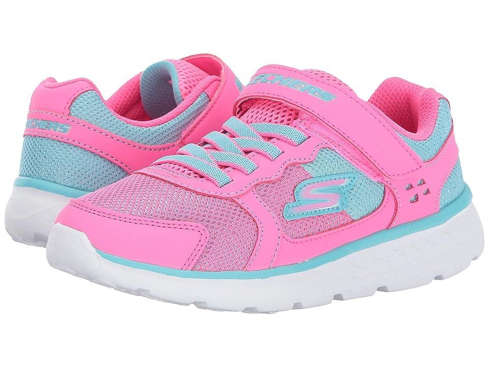 SKECHERS KIDS Go Run 400 (Little Kid/Big Kid) (Neon Pink/Aqua) Girl
