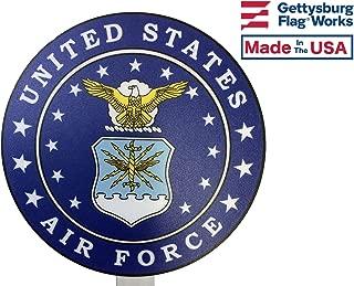 Gettysburg Flag Works United States Air Force Printed Resin Grave Marker, Full Color Design, USAF Cemetery Memorial Flag Holder, Veteran Plaque, Made In USA